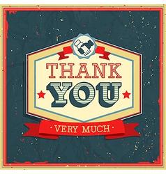 Card Thank You2 vector image