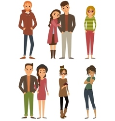 Character set with flat design style vector image