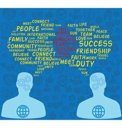 concept of men speaking about world community vector image
