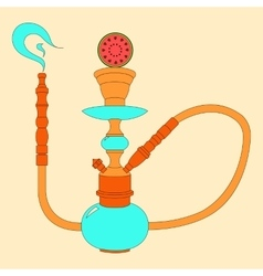 Hookah color with fruit vector image