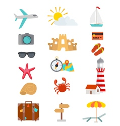 tourism objects vector image vector image