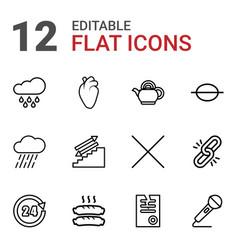 12 single icons vector