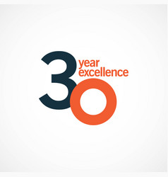 30 year anniversary excellence template design vector