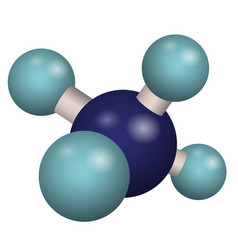 3d model molecule ch4 vector