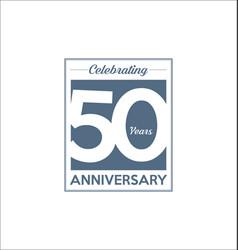 50 years anniversary modern design background vector