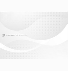 abstract modern white and gray gradient curved vector image