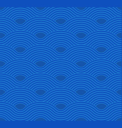 abstract wave pattern blue ripple background vector image