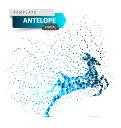 antelope duiker hartebeest deer gazelle dot vector image