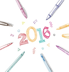 Artistic new year design vector