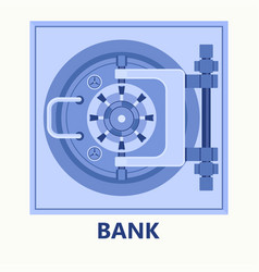 bank vault icon vector image
