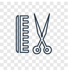 barber concept linear icon isolated on vector image