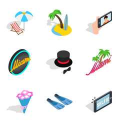 Binge icons set isometric style vector