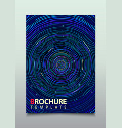 blue circle brochure business flyer design vector image
