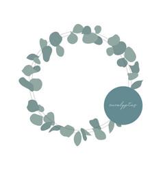 botanical wreath eucalyptus vector image