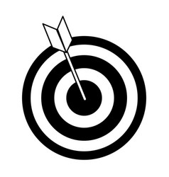 Bullseye with dart icon image vector