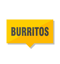 Burritos price tag vector