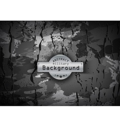 Camouflage military pattern with cracks background vector image
