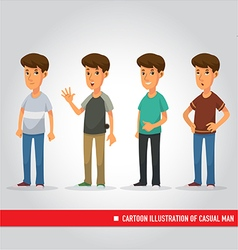 cartoon of casual man vector image