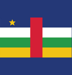 Central african republic flag for independence vector