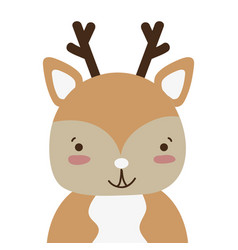 Colorful adorable and happy deer wild animal vector