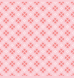 coral heart shape flowers seamless pattern vector image
