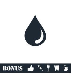 Drop icon flat vector