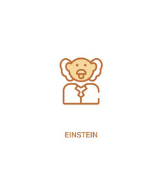 Einstein concept 2 colored icon simple line vector