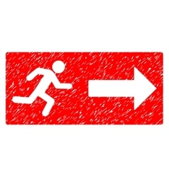 Emergency Exit Grainy Texture Icon vector image