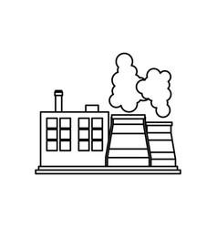 Factory or industry building symbol vector
