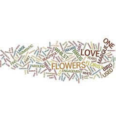 floral engagement and lost love birds text vector image