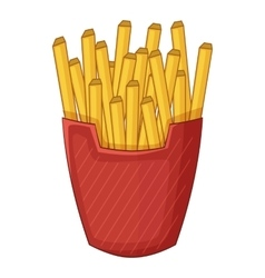 French fries icon cartoon style vector