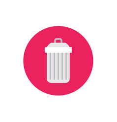 garbage trash - concept icon in flat graphic vector image