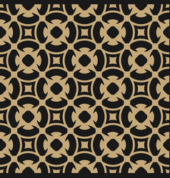 Golden abstract pattern in arabian gold style vector