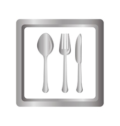 Gray picture cutlery icon design vector