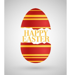 happy easter background with egg vector image