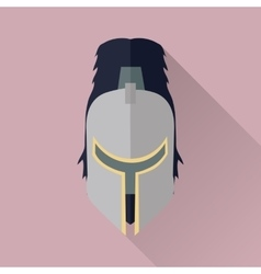 Helmet headpiece isolated medieval armour vector