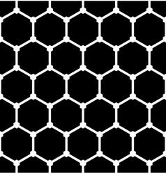 Hexagons latticed pattern vector image