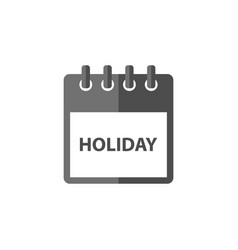 holiday calendar icon design vector image
