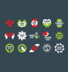 Icons handmade on a dark background vector
