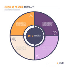infographic circle chart template four vector image