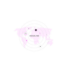 infographic isolated on white abstract template vector image