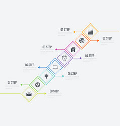 infographics 8 options vector image