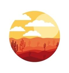 Isolated desert landscape design vector