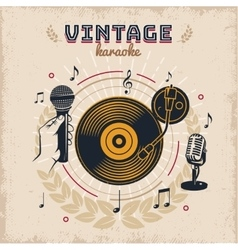 Karaoke Vintage Style Design vector