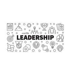 leadership creative horizontal outline vector image