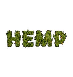 Lettering design weed inscription natural hemp vector