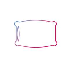 line nice soft pillow to comfortable sleep vector image