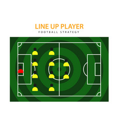 Line up player template design vector