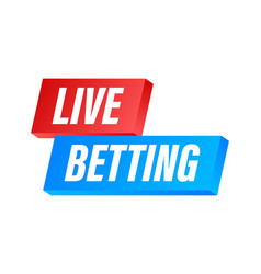 Live betting flat web banner with red bet now on vector