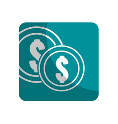 Logotype coins money save vector